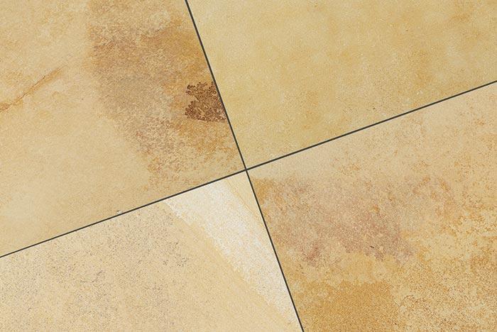Keramik Terrassenplatte 60x90x2 cm Solnhofen Rock gelblich