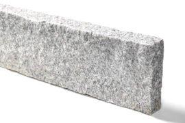 Granit Kantenstein 8x20x50 cm hellgrau allseitig gespalten