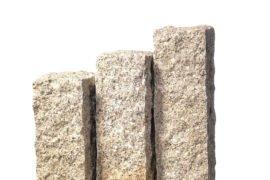 Granit Palisade 12x12x100 cm gelb-grau