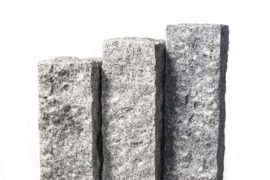 Granit Palisade 12x12x100 cm hellgrau