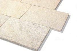 Granit Terrassenplatte 40x60x3 cm gelb-grau