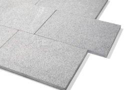 Granit Terrassenplatte 40x60x3 cm dunkelgrau
