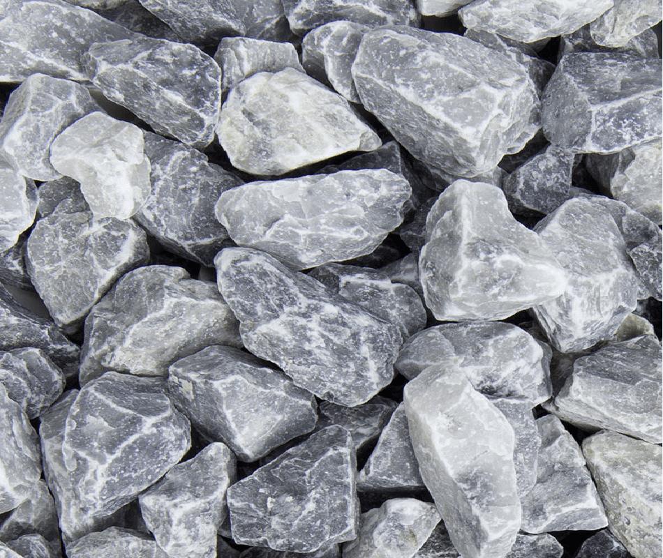 Ziersplitt Marmor Icy Blue 25-40 mm blau-grau