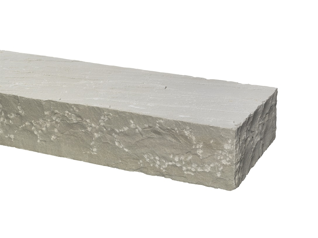 Quarz-Sandstein Blockstufe 14-16x35x100 cm Grau