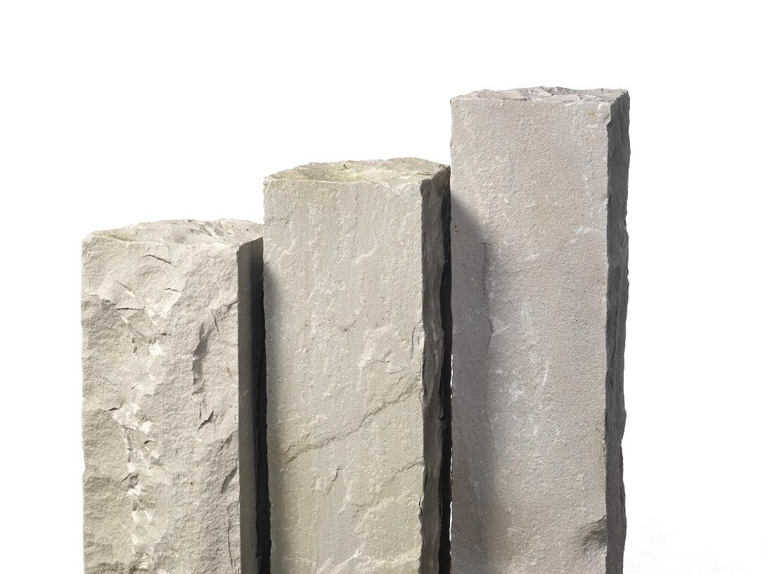 Quarz-Sand Palisaden 12x12x100 cm grau