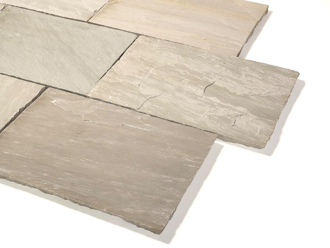 Quarz-Sandstein Terrassenplatte 40x60x2,5 cm grau