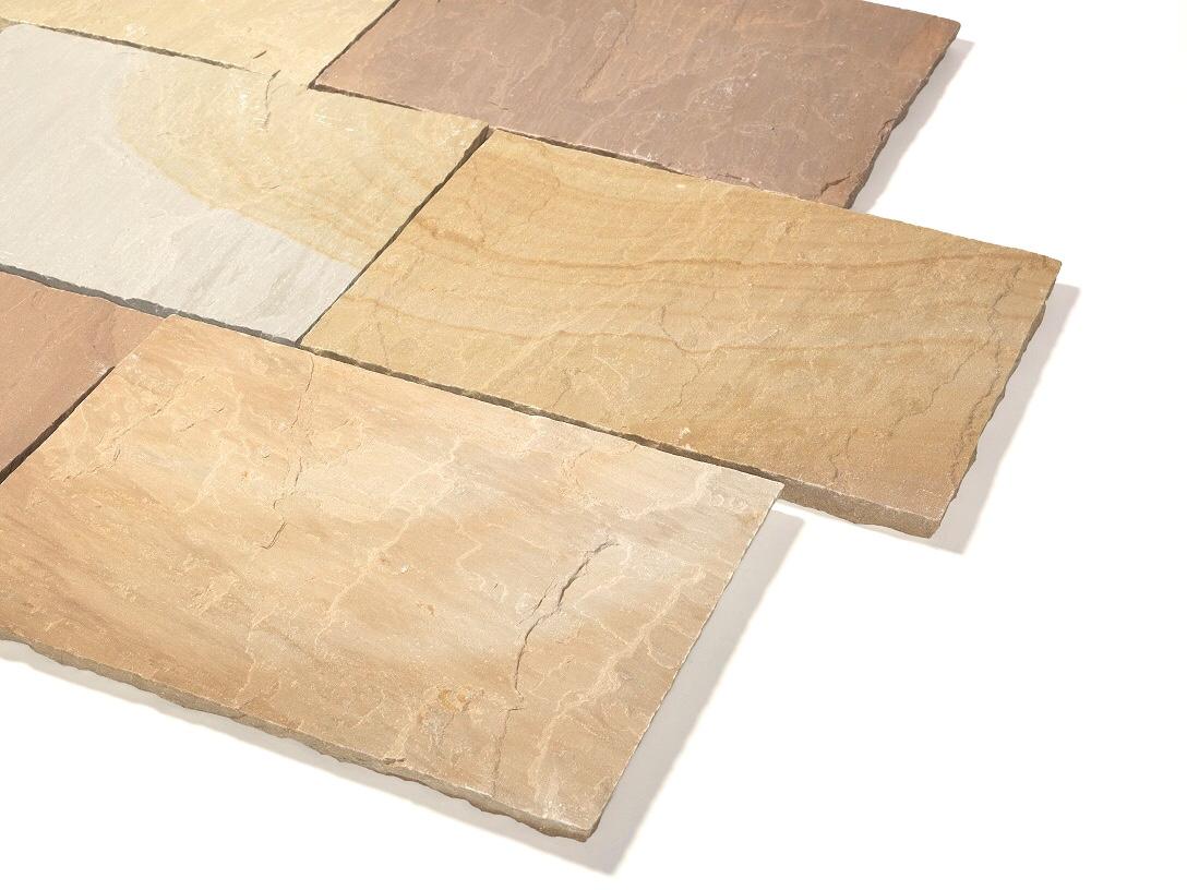 Quarz-Sandstein Terrassenplatte 40x60x2,5 cm Toskana