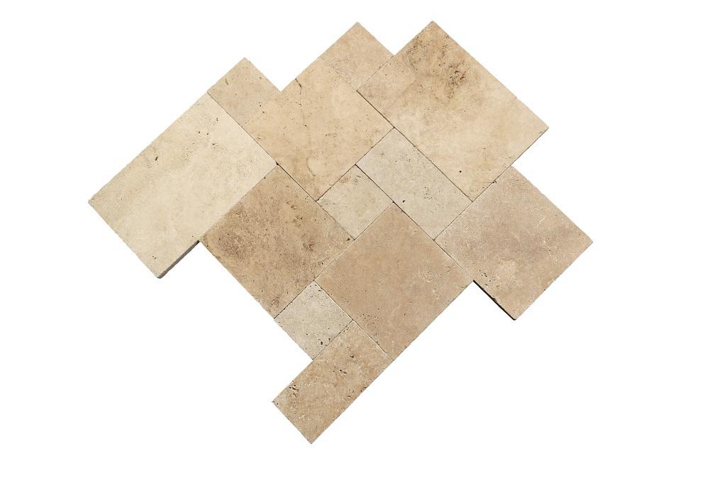 travertin terrassenplatte 40x60x3 cm classic light. Black Bedroom Furniture Sets. Home Design Ideas