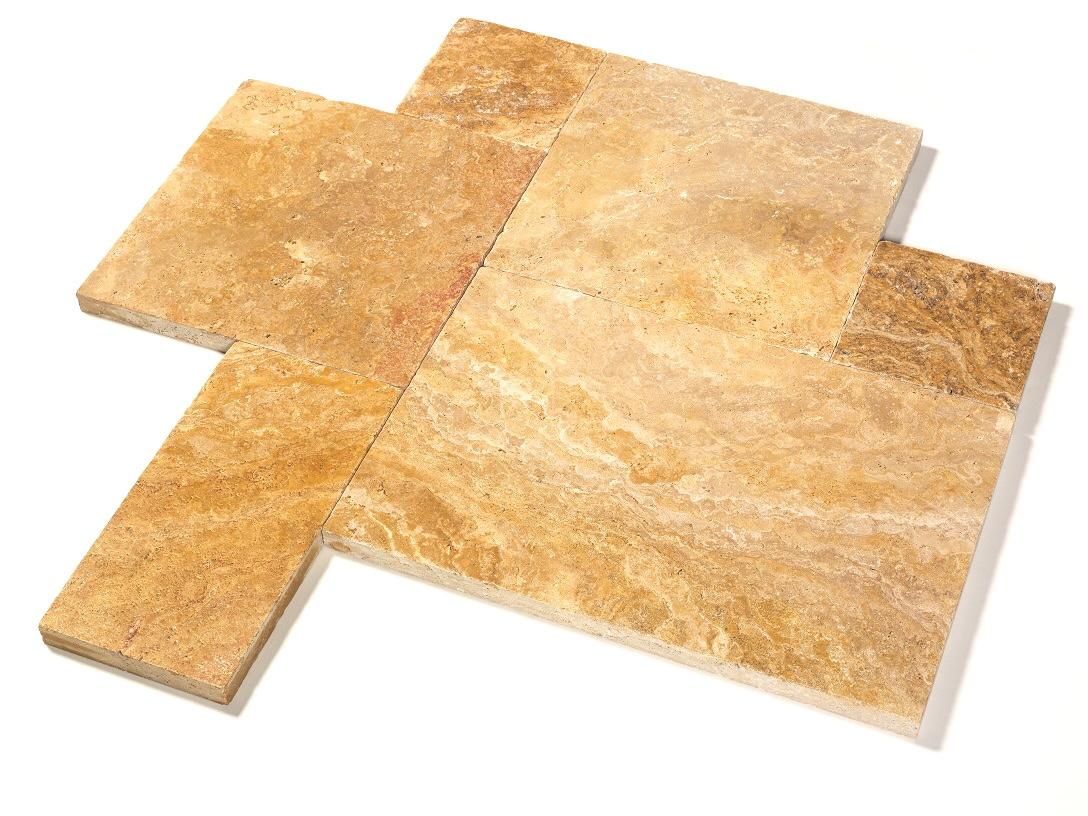 travertin terrassenplatte 40x60x3 cm gold. Black Bedroom Furniture Sets. Home Design Ideas