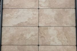 Keramik Terrassenplatte Travertin 45x90x2 cm / 60x60x2 cm