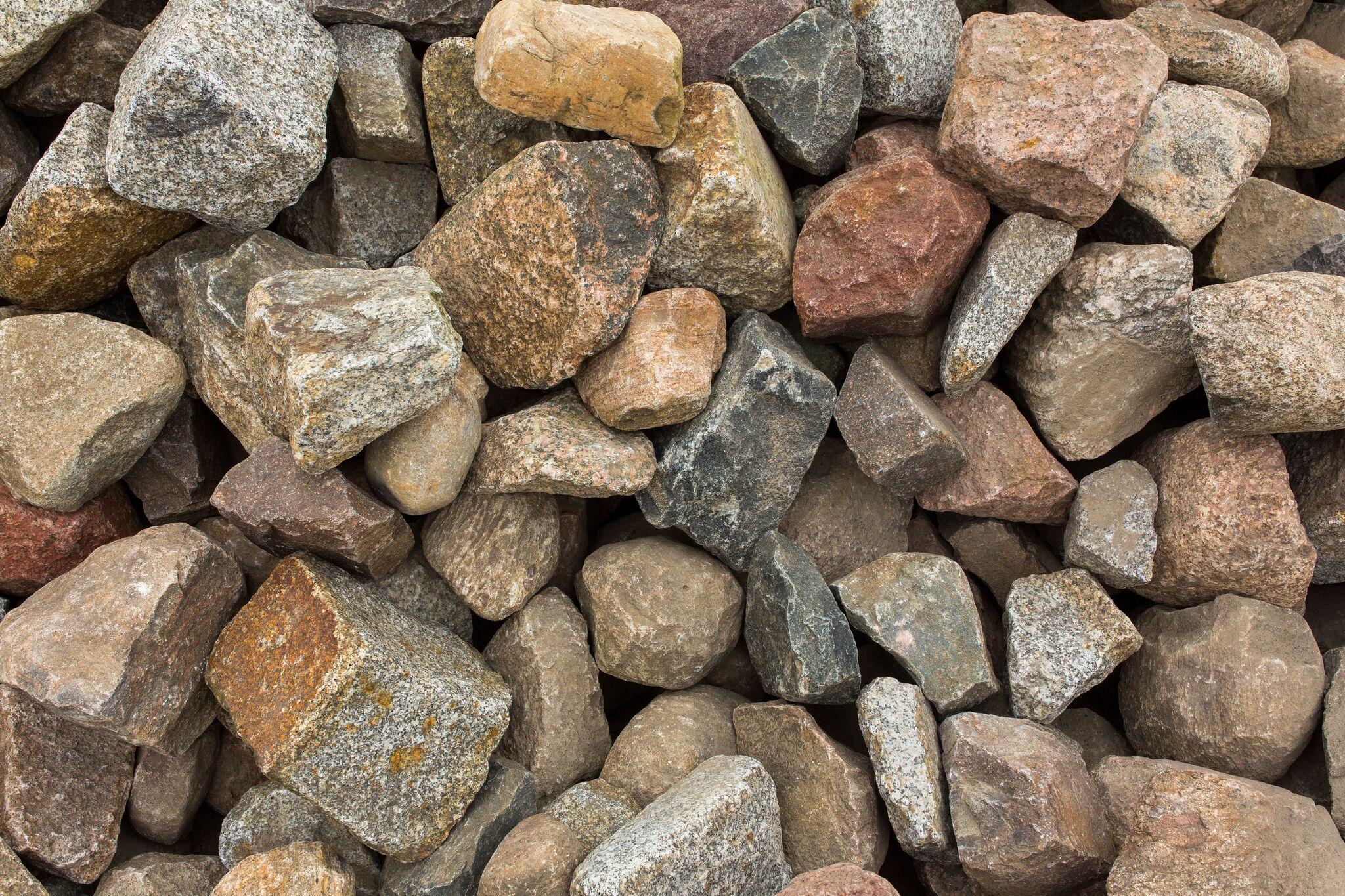 Granit Feldsteinpflaster box17 bunt gebraucht 2
