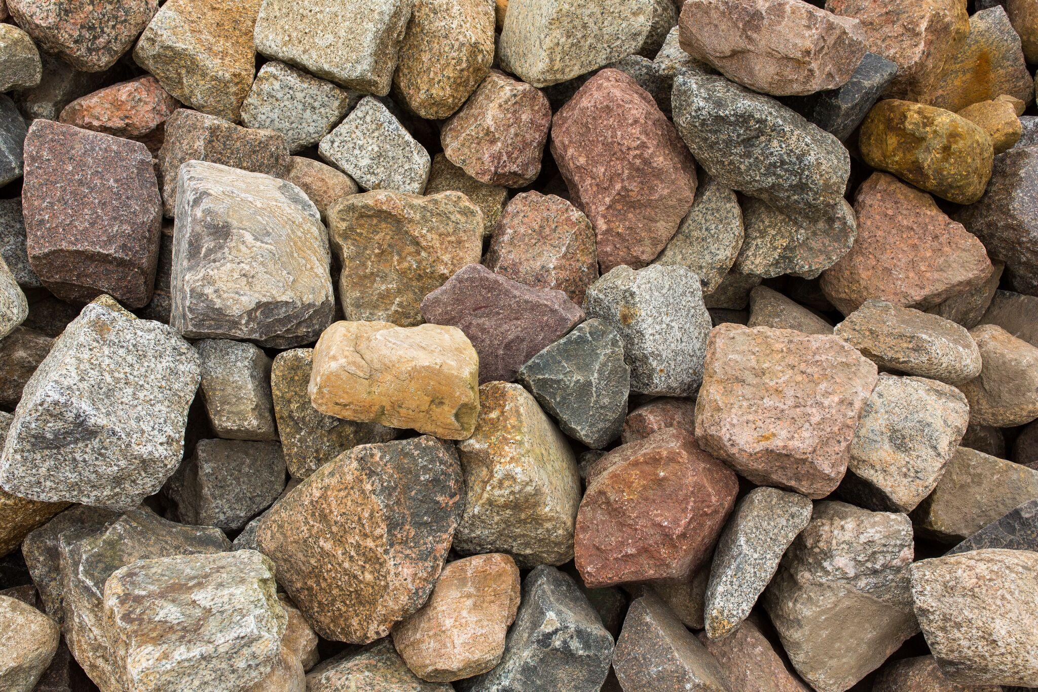 Granit Feldsteinpflaster box17 bunt gebraucht 3