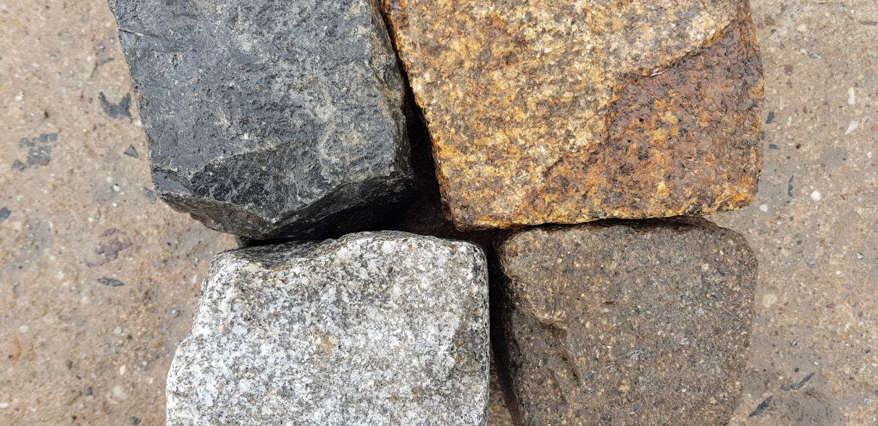 granit gebrauchtes kleinpflaster bunt box 55