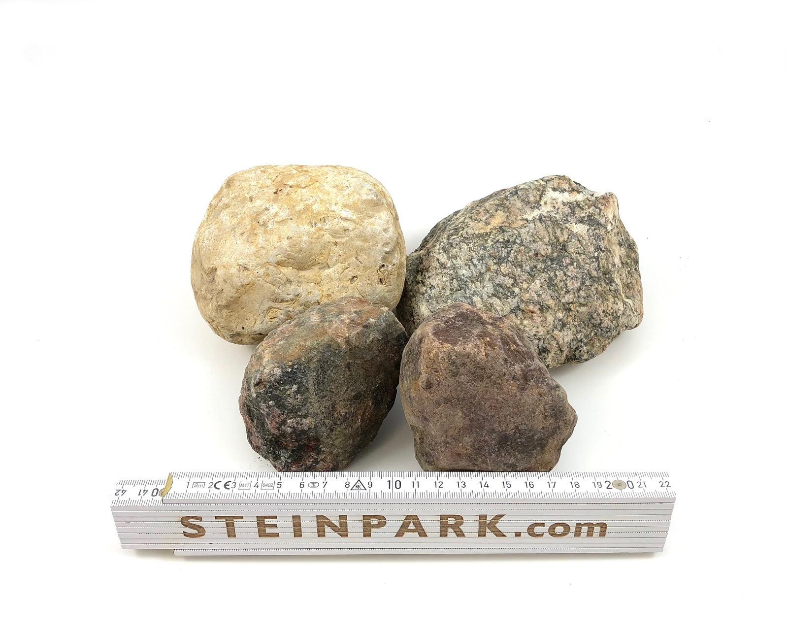 Gabionenstein Granit-Lesestein 50-140 mm natürlich gerundet