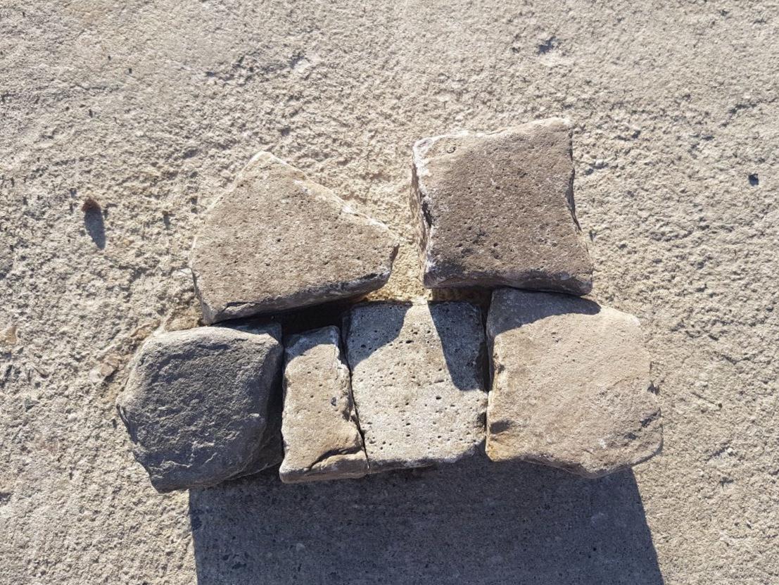 Quarzit Kleinpflaster 7-10 cm gebraucht gespalten