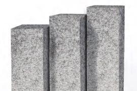 Granit Edelpalisade 12x12x100 cm hellgrau geflammt
