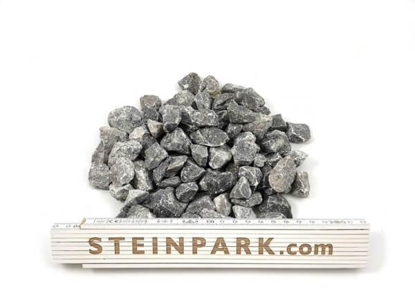 Ziersplitt Kalkstein Alpenstein 22-32 mm anthrazit-grau