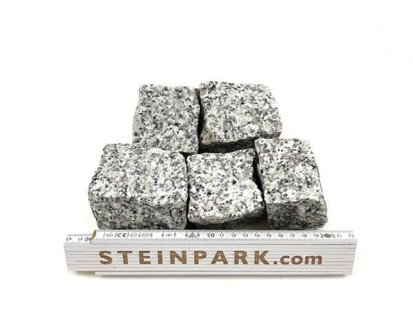 Neues Granit Mosaikpflaster Mittelkorn 4-6 cm grau