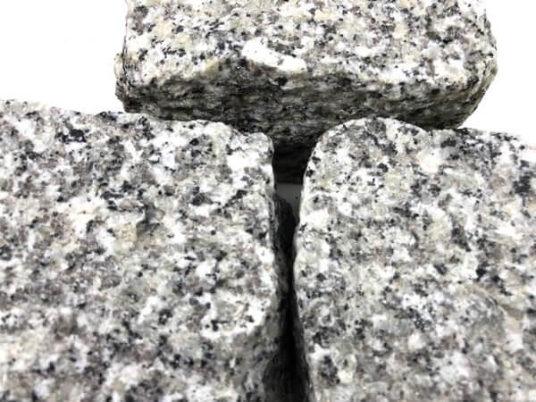 Neues Granit Kleinpflaster 8-11 cm Mittelkorn grau