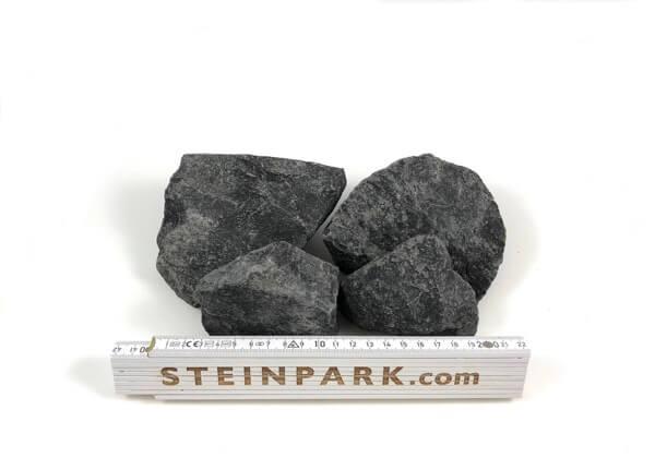 Gabionenstein Basalt Nero 60-120 mm anthrazit-grau