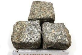 Gebrauchtes Granit Kleinpflaster 8-11 cm reihenfähig grau-gelb