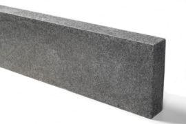 Basanit Edelkantenstein 7x25x100 cm anthrazit allseitig gesägt