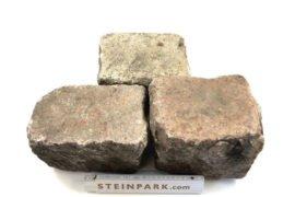 Gebrauchtes Granit Großpflaster 16-28 cm Reihenpflaster rot bunt B 54