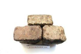 Gebrauchtes Granit Großpflaster 16-28 cm Reihenpflaster rot-bunt A16