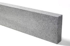 Granit Edelkantenstein 8x25x100 cm dunkelgrau allseitig gesägt