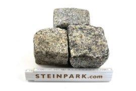 Gebrauchtes Granit Kleinpflaster 6-11 cm reihenfähig-unregelmäßig überwiegend grau