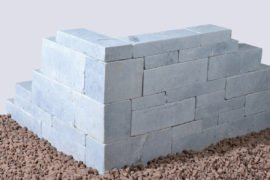 Marmor Kastellmauerstein 15x18x30-60 cm blau-grau