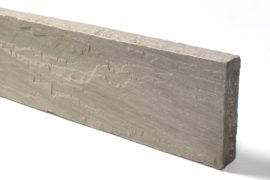 Quarz-Sand Kantenstein 6x20x100 cm grau
