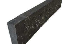 Basalt Kantenstein 6x20x100 cm anthrazit gespalten