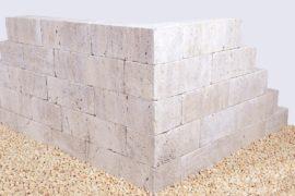 Travertin Kastellmauerstein Noce 15x18x30-60 cm