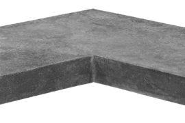 Poolplatten Ecke Bluestone 60/30×60/30×3 cm anthrazit-bläulich