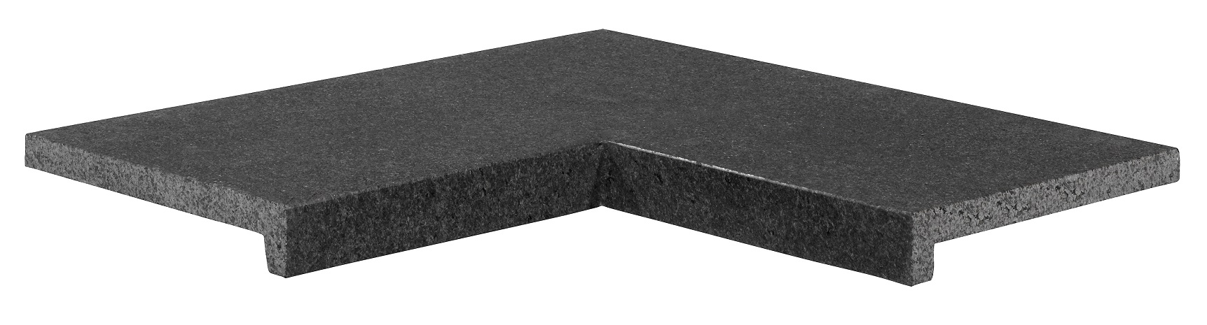 Poolplatten Ecke Granit 60/30×60/30×5/2,5 cm anthrazit