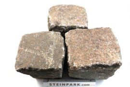 Gebrauchtes Granit Großpflaster 18-28 cm Reihenpflaster rot-anthrazit