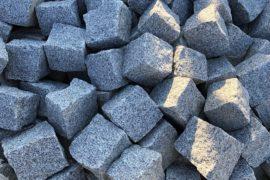 Neues Granit Kleinpflaster 7-9 cm hellgrau