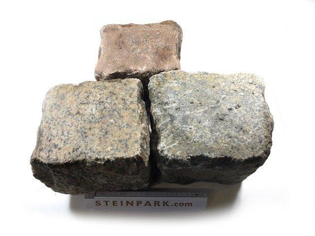Gebrauchtes Granit Großpflaster 18-28 cm Reihenpflaster rot bunt