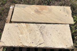 Quarz-Sandstein Blockstufe 14-16x35x100 cm Neuware gelb-grünlich