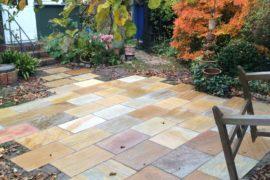 Quarzit Terrassenplatten 40x60x2-4 cm gelblich-bunt
