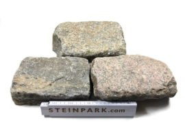 Antike Granit Pflasterplatten 2,5-5 cm Reihensteine bunt