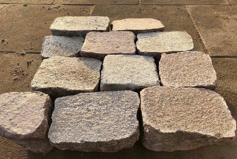 granit-pflasterplatte-bunt-geflammt-regelmäßig-13cm
