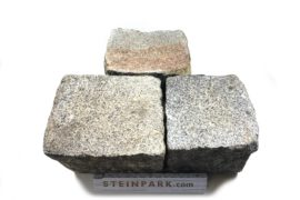 Edel Granit Pflasterplatte 12-13 cm grau regelmäßig