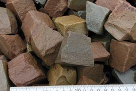 Neues Quarz-Sandstein Mosaikpflaster 4-6 cm bunt