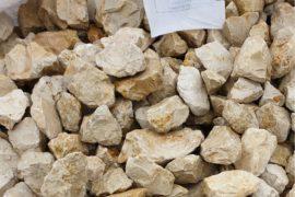 Ziersplitt Kalkstein Amarillo Caliza 32-56 mm gelb-grau