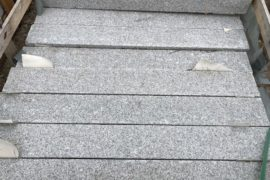 Granit Edelpalisade 12x12x100 cm hellgrau