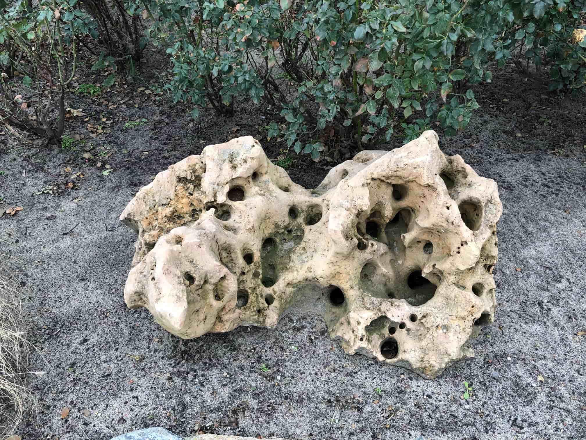 Kalkstein Lochstein Findlinge div. Größen