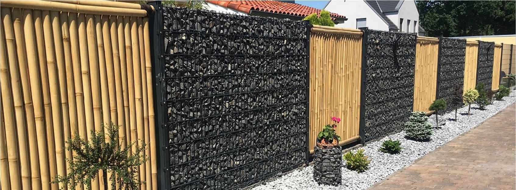 Gabionensteine aus Granit Basalt Kalkstein Lava