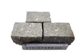 Granit Edel Kleinpflaster 15x10x9-10 cm grau gestockt